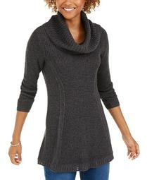 Plus Size Cowlneck Tunic Sweater, Created for Macy's