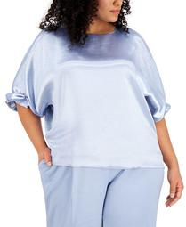 Plus Size Dolman-Sleeve Blouse, Created for Macy's