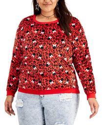 Trendy Plus Size Minnie Cheetah-Print Sweatshirt