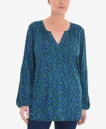 Women's Plus Size Printed Ditsy Jersey Shirt