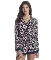Bella Printed Knit Top & Boxer Pajama Set