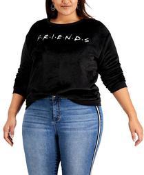 Trendy Plus Size Friends Logo Sweatshirt