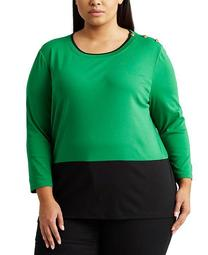 Plus-Size Colorblocked Sweater