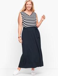 Sunset Stripe Jersey Maxi Dress
