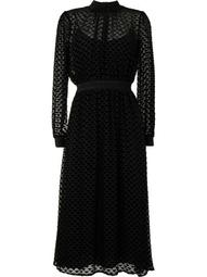 triangle pattern midi dress
