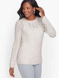 Allover Pointelle Shimmer Sweater
