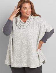 Cowl-Neck Poncho Overpiece