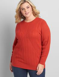 Cable-Stitch Pullover Sweater
