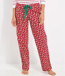 Red Velvet Knit Pajama Pants