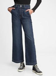 Workforce Collection Sky High Rise Wide-Leg Jeans