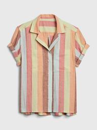 Stripe Shirt in Linen-Cotton