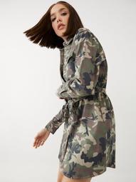 CAMO SHIRT DRESS