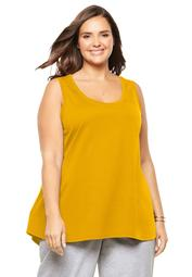 Woman Within Women's Plus Size High-Low Tank
