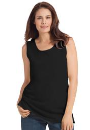 Woman Within Women's Plus Size Perfect Scoop-Neck Tank Top