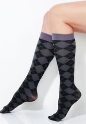 Tonal Argyle Trouser Socks
