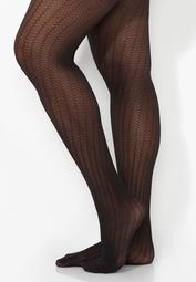 Honeycomb Stripe Tights