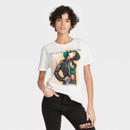Women's Alicia Keys Short Sleeve Graphic T-Shirt - Cream
