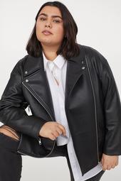 H&M+ Oversized Biker Jacket