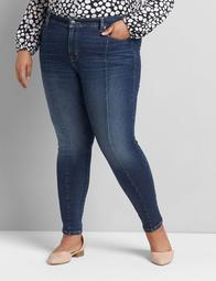 Straight Fit High-Rise Skinny Jean - Center Seam