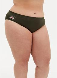 Olive Green Adventure Awaits Seamless Hipster Panty