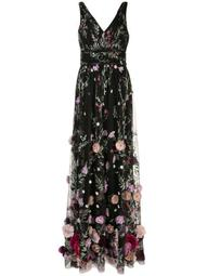 3D Floral sleeveless gown