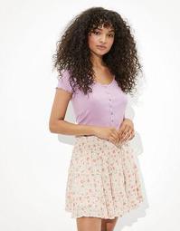 AE Tiered Smocked Mini Skirt