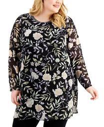 Plus Size Printed Tunic Top