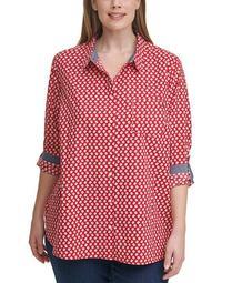 Plus Size Cotton Daisy Tunic Shirt