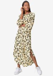 Shirttail Maxi Dress