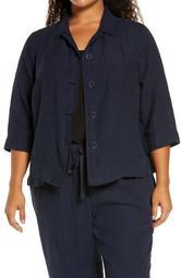 Microcheck Organic Cotton Shirt Jacket