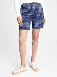 "5"" Utility Khaki Camo Shorts"
