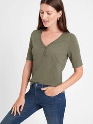 Sub Cotton-Modal Henley T-Shirt