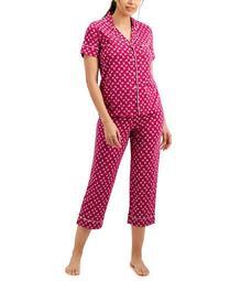 Short Sleeve Top & Capri Pants Pajama Set, Created for Macy's