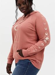 Dusty Coral Moonstar Fleece Hoodie