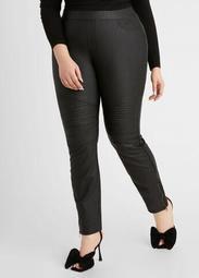 Coated Denim Straight Leg Jean