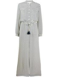 tassel-detail striped jumpsuit