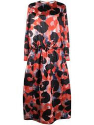 Abstract Animalier-print chintz dress