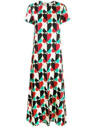 Farfalle Rosso-print silk mini dress