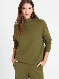 Relaxed Mock-Neck Sweater