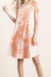 Tie Dye orange blossom dress