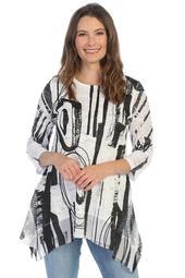 Lace Tunic w/ Mesh Panel