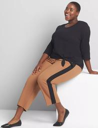 Perfect Drape Slim Ankle Pant - Side Stripe
