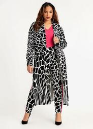 Signature Animal Ruched Duster