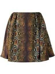 python-print flared mini skirt