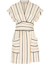 Aurora stripe-pattern mini dress