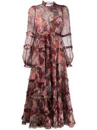 floral-print maxi tiered dress