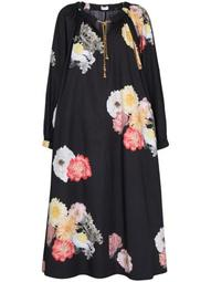 Myra chain-detail floral dress