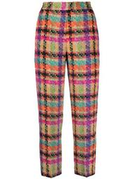 checked tweed trousers