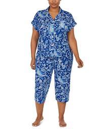 Plus Size Capri Pants Pajama Set
