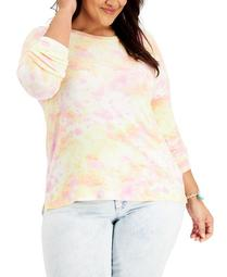 Plus Size Tie-Dyed Top, Created for Macy's